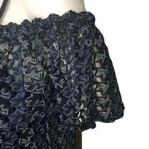 GREYLIN Dresses - GREYLIN Nordstrom Blue Lace Off Shoulder Dress NWT